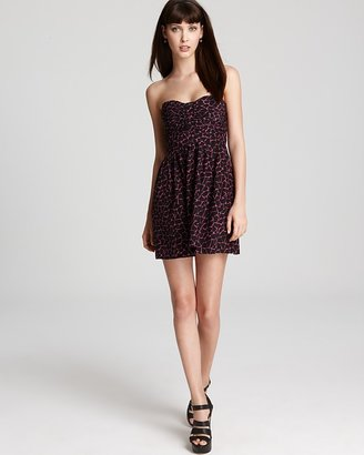 Parker Strapless Dress - Printed with Ruching