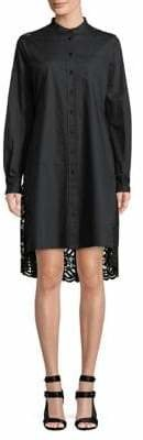 Diane von Furstenberg Lace Back Cotton Shirtdress