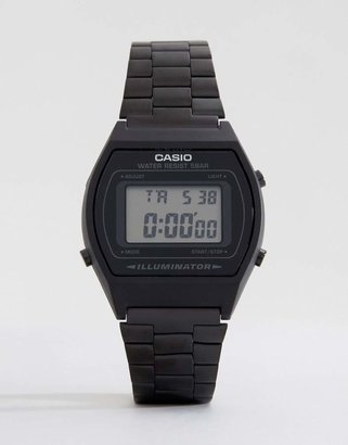 Casio B640WB-1AEF digital stainless steel watch in black