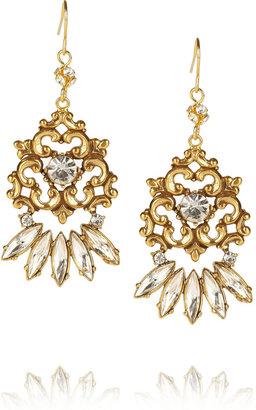 Tom Binns Rokoco Dumont gold-plated crystal earrings