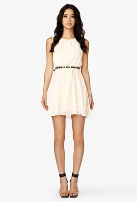 Forever 21 Lace-Paneled Georgette Dress