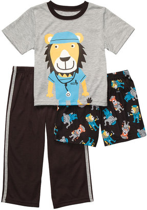 Carter's Boys 3 Piece Polyester Pajama Set with Short Sleeve Top, Short and Pant