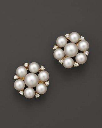 Bloomingdale's Cultured Freshwater Pearl Cluster Earrings in 14K Yellow Gold, 5mm