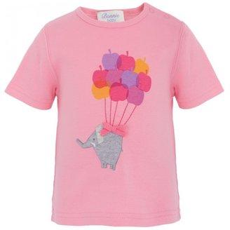 Bonnie Baby Pink Elephant Applique Tee