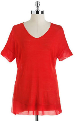 Eileen Fisher Petite Silk Boxy Top