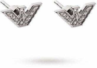 Emporio Armani Glitz Silver Eagle Stud Earrings
