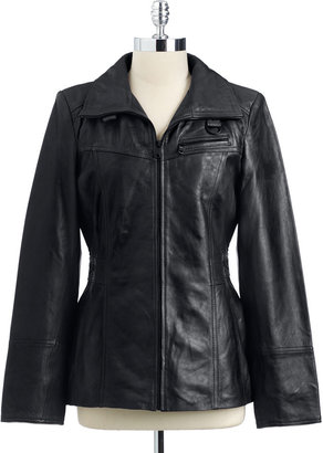 Marc New York Zip Front Leather Jacket
