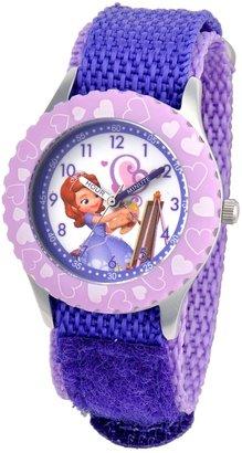 """Disney Kids' W001067 """"Sofia"""" Stainless Steel Time Teacher Watch"""
