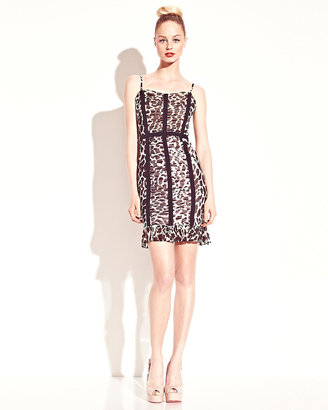Betsey Johnson Leopard Bustier Dress