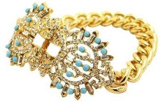 Women's Fashion Bracelet - Gold/Turquoise/White