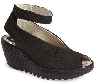 Fly London 'Yala' Perforated Leather Sandal $159.95 thestylecure.com