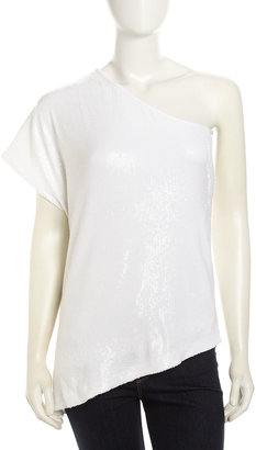 Tart Julie Bare-Shoulder Sequined Top, White