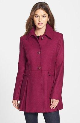 Kensie Skirted Wool Blend Coat