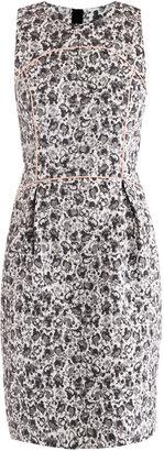 Giles Contrast binding jacquard dress