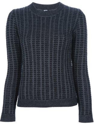 Jil Sander Navy chunky knit sweater