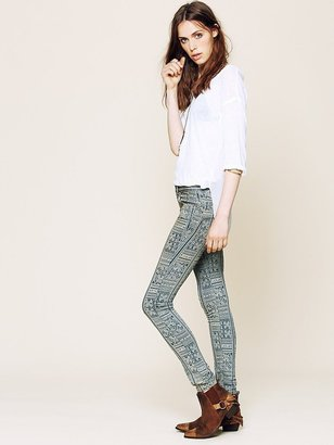 Free People Isla Printed Skinny Jeans