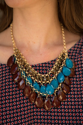 Girlfriends Turquoise Statement Necklace