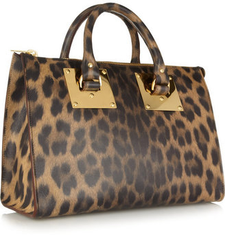Sophie Hulme Leopard-print leather tote