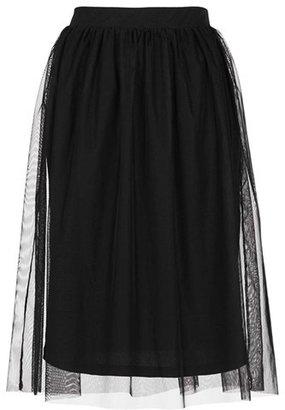 Topshop Tulle Midi Skirt