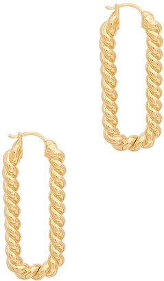 Missoma Tidal Ovate 18kt Gold-plated Earrings