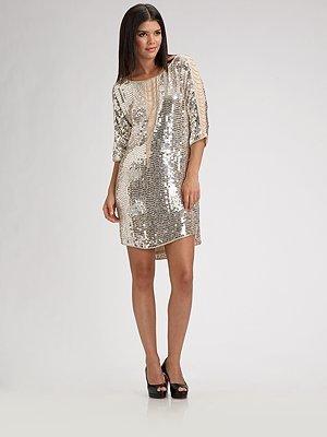 Haute Hippie Fringed Sequin Dress