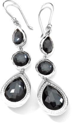 Ippolita Stella 3-Drop Earrings in Hematite & Diamonds