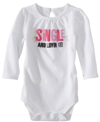 Circo Newborn Girls' Long-Sleeve Bodysuit - True White