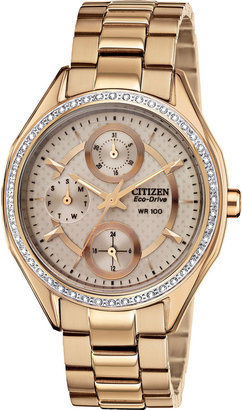 DRIVE FROM CITIZEN ECO-DRIVE Drive from Citizen Eco-Drive Gold-Tone Watch FD1063-57X $295 thestylecure.com