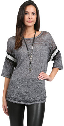 Free People Watch Me Shine Tee in Grey