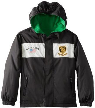 U.S. Polo Assn. U.S. Polo Association Big Boys' Reversible Mid Weight Jacket with Attached Hood
