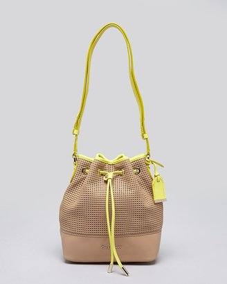 Cole Haan Shoulder Bag - Linley Perforated Mini Drawstring