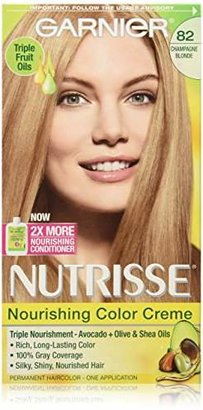 Garnier Nutrisse Nourishing Color Creme, 82 Champagne Blonde (Champagne Fizz) (Packaging May Vary) $7.99 thestylecure.com