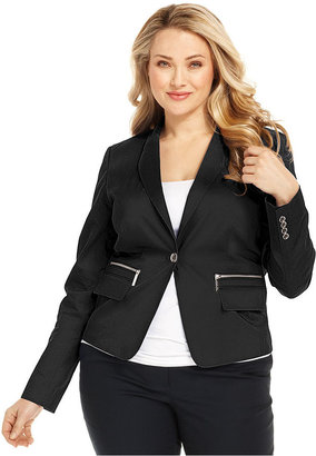 MICHAEL Michael Kors Size Jacket, One-Button Blazer