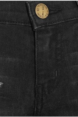 Current/Elliott The Ankle Skinny studded skinny jeans