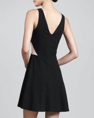 Pamella Roland Sleeveless Fit-and-Flare Dress