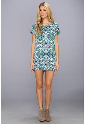 MinkPink Optical Illusion Tunic Tee Dress (Multi) - Apparel