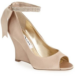 Women's Nina 'Emma' Crystal Embellished Ankle Strap Pump $118.95 thestylecure.com