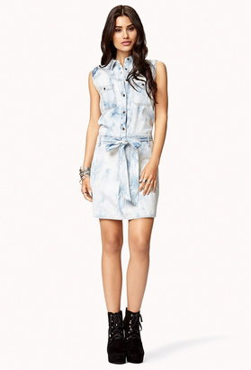 Forever 21 Life In Progress™ Bleached Shirt Dress