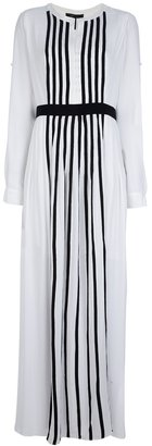 BCBGMAXAZRIA striped long dress