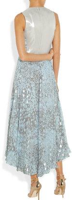 Diane von Furstenberg Starr metallic printed silk-blend gown