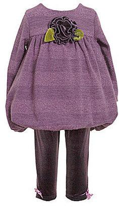 Bonnie Baby Infant Bubble-Hem Top & Leggings Set
