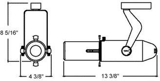 W.A.C. Lighting Model 009L Low Voltage Track Lighting