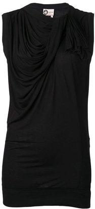 Lanvin sleeveless drape top