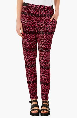Topshop Diamond Pattern Jersey Trousers