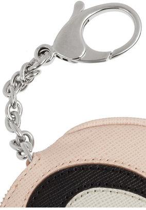 Fendi Textured-leather coin purse key fob