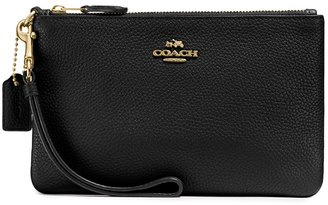 Coach Black Small Leather Pouch