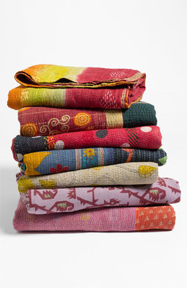 Couleur Nature Kantha Hand Crafted Throw