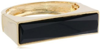 "Kenneth Cole New York ""Jet"" Faceted Rectangle Bead Hinged Bangle Bracelet, 8"""