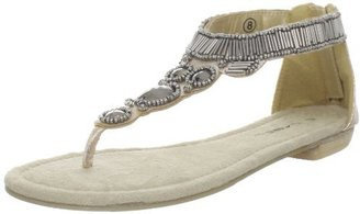 C Label Women's Rocco-9 T-Strap Wedge