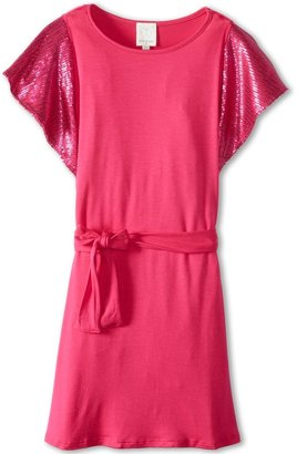 Ella Moss Sadie Dress (Big Kids) (Fuchsia) - Apparel